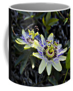 Blue Passion Flower Coffee Mug