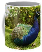 Blue Peacock Coffee Mug