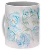 Blue Peonies Coffee Mug