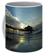 Blue Pier 60 Sunset Coffee Mug