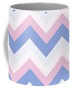 Blue Pink Chevron Pattern Coffee Mug