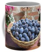 Blue Plums In A Basket Coffee Mug
