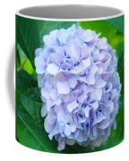 Blue Purple Hydrandea Floral Art Botanical Prints Canvas Coffee Mug