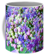 Blue Purple Hydrangea Flower Macro Art Coffee Mug