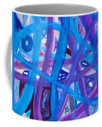Blue Purple Paths  Coffee Mug
