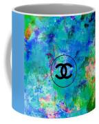 Blue Red Black Chanel Logo Print Coffee Mug