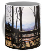 Blue Ridge Mountain Porch View Coffee Mug