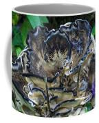 Blue Rimmed Fungus Coffee Mug