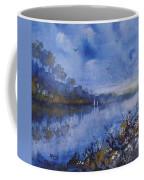 Blue Sail, Watercolor Painting Coffee Mug