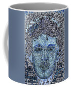 Blue Self Portrait Coffee Mug