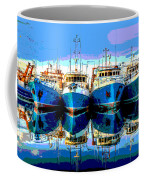 Blue Shrimp Boats Coffee Mug