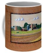 Blue Silo-marquetry Coffee Mug