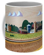Blue Silo-marquetry-image Coffee Mug