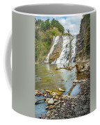 Blue Skies Over Ithaca Falls Coffee Mug