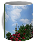 Blue Sky And Roses Coffee Mug