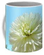 Blue Sky Art White Dahlia Flower Floral Prints Baslee Troutman Coffee Mug