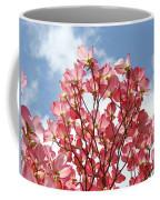 Blue Sky Clouds Landscape 7 Pink Dogwood Tree Baslee Troutman Coffee Mug