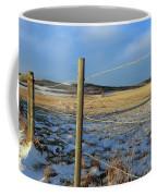Blue Sky Fence Line Coffee Mug