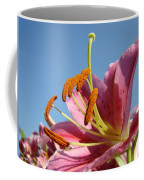 Blue Sky Florals Art Pink Calla Lily Blooming Baslee Troutman Coffee Mug