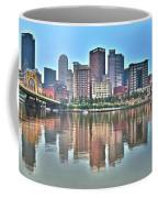 Blue Sky Reflecting Water Coffee Mug