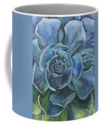 Blue Succulent Coffee Mug