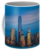 Blue Sunset At The World Trade Center Coffee Mug