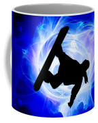 Blue Swirl Snowstorm Coffee Mug