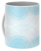Blue Tec Semi Circle Background Horizontal Coffee Mug