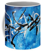 Blue Texture By Madart Coffee Mug