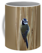 Blue Tit On Reed Coffee Mug