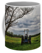 Blue Tractor Green Field Coffee Mug