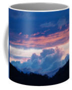 Blue Twilight Clouds Art Prints Mountain Pink Sunset Baslee Troutman Coffee Mug