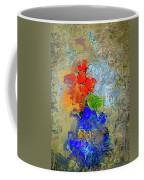 Blue Vase, Red Flowers Coffee Mug