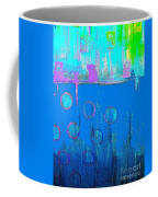 Blue Water And Sky Abstract Coffee Mug
