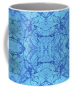 Blue Water Batik Tiled Coffee Mug