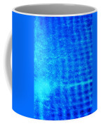 Blue Water Grid Abstract Coffee Mug