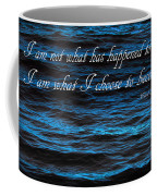 Blue Water With Inspirational Text Coffee Mug