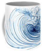 Blue Wave Modern Loose Curling Wave Coffee Mug