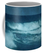 Blue Waves - Jersey Shore Coffee Mug by Angie Tirado