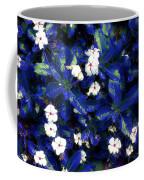 Blue White I Coffee Mug