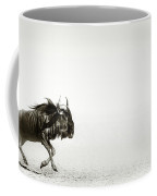 Blue Wildebeest In Desert Coffee Mug
