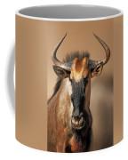 Blue Wildebeest Portrait Coffee Mug