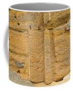 Blue Window On A Grungy Yellow Wall Coffee Mug