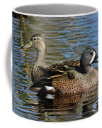 Blue Winged Teal Pair Coffee Mug