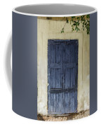 Blue Wood Door Coffee Mug