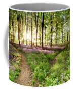 Bluebell Woods With Birds Flocking  Coffee Mug