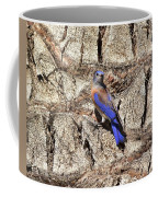 Bluebird On Canary Island Palm II Coffee Mug