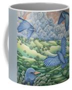 Bluebirds Of Happiness Coffee Mug