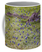 Bluebonnets And Fallen Tree - Texas Hill Country Coffee Mug