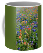 Bluebonnets And Paintbrushes 3 - Texas Coffee Mug